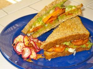 Sweet Potato-Guacamole Sandwich