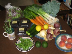 CSA box contents for June 18