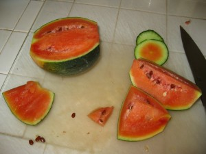 I may never buy another grocery-store watermelon again.