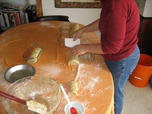 Cutting the Potiça