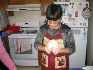 Me with cuduridi dough
