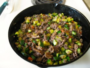 Zucchini and meat
